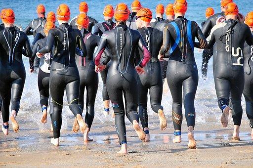 Triathlon, Ironman, Swim, Sea, Water, Fitness, Race