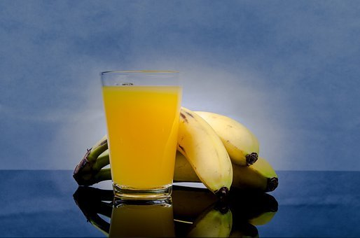 Banana, Juice, Flavor, Flavour, Cold, Glasses, Slice