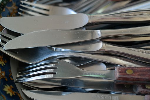 Cutlery, Knife, Forks, Metal, Washing Dishes