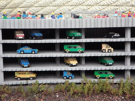 Multi Storey Car Park, Legoland, Lego Blocks, Assembled
