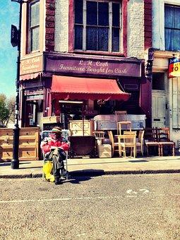 Stranger, Reading, Street, Urban, London, Antique, Man