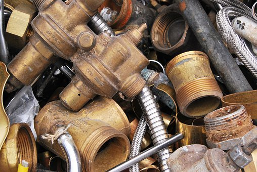 Scrap, Brass, Waste, Metal, Steel, Iron, Industry