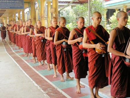 Monk, Religion, Buddhism, Faithful, Myanmar, Burma