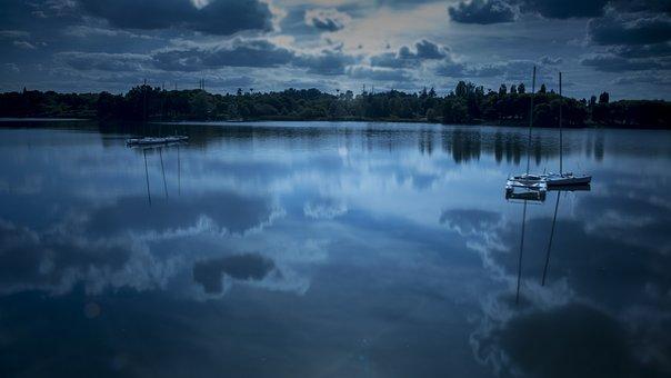 Night View, Boat, Quiet, Be Quiet, Serenity, Hazy
