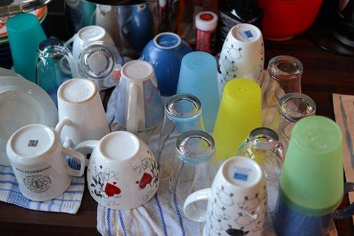 Tableware, Washing Dishes, T, Rinse, Coffee Mugs
