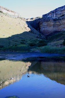 Drakensberg Mountains, Water, Landscape, Scenery