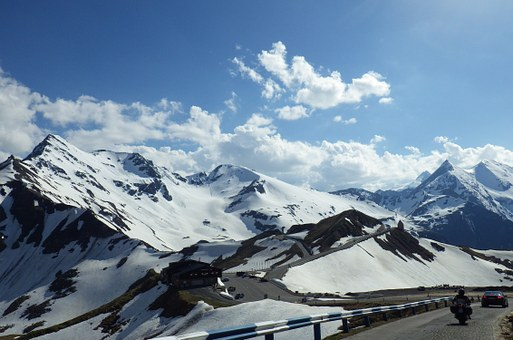 Mountains, Snow, Grossglockner Alpenstrasse, Austria