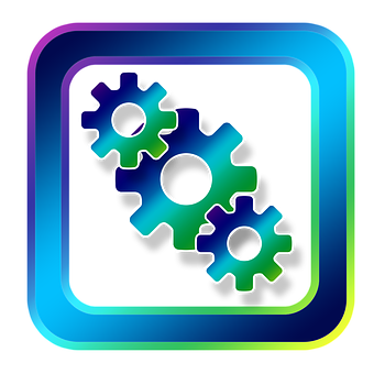 Icon, Gears, Work, Team, Function, Together, Symbols