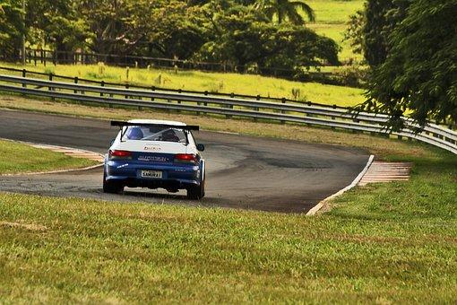 Subaru, Race, Track, Day, Summer