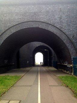 Tunnel, Path, Strangers, People, Light, Corridor