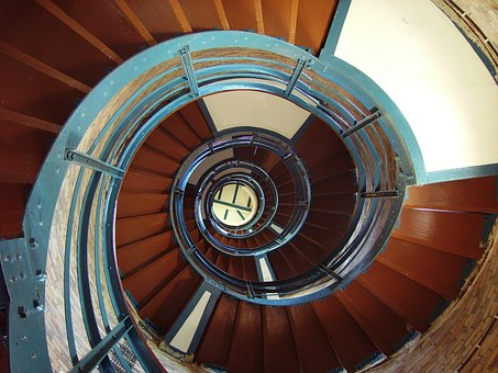 Steps, Lighthouse, Architecture, Staircase, Spiral