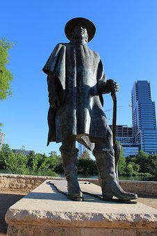 Stevie Ray Vaughan, Statue, Austin