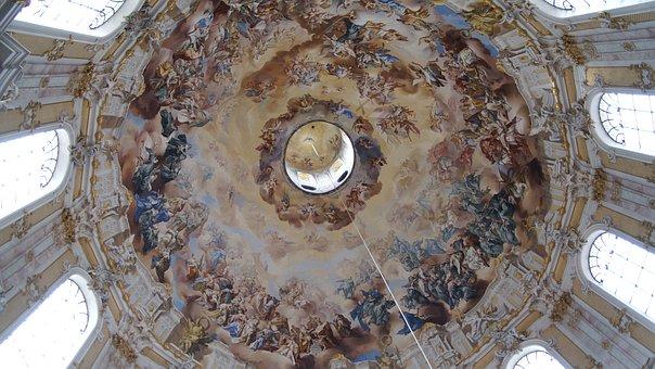 Bavaria, Ettal, Monastery, Church, Dome, Baroque