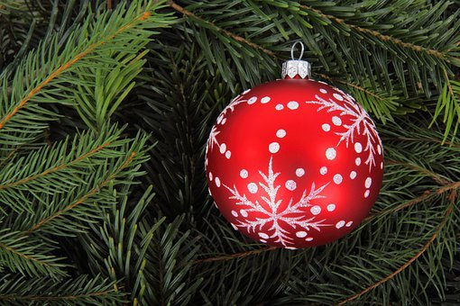 Background, Ball, Bauble, Branch, Christmas, Decoration
