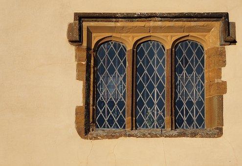 Window, Mullion, Medieval, Canons Ashby, Three
