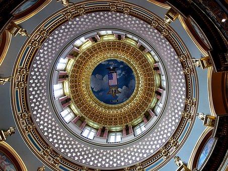 Iowa, Capitol, Dome, Des, Moines, Statehouse