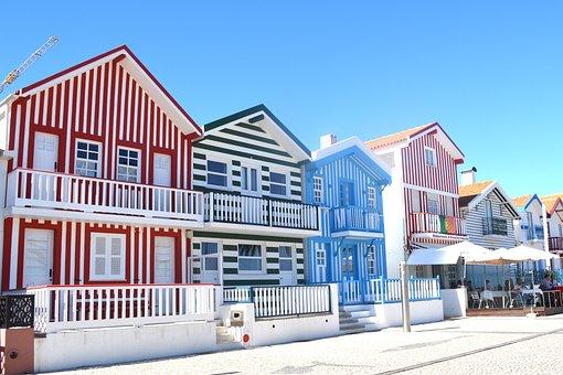 Aveiro, Colorful Houses, Portugal, Beautiful Houses