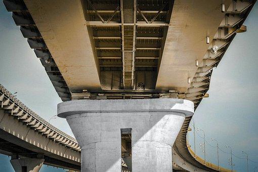 Architecture, Bridge, Concrete, Construction, Flyover