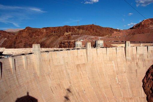 Hoover, Dam, Nevada, Arizona, Bridge, Landmark, Famous