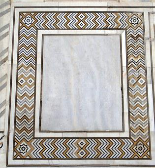 Engraving, Design, Symmetry, Stone Inlay, Taj Mahal