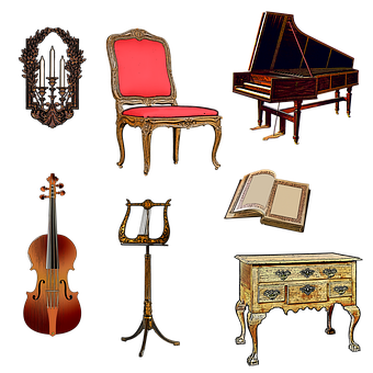 Harpsichord, Violin, Music Stand, Furniture, Chair