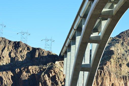 Hoover Dam, Bridge, Arch, Architecture, Design