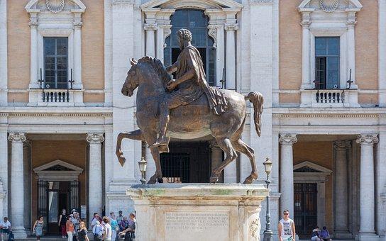 Marcus Aurelius, Rome, Statue, Horse, Capitol Square