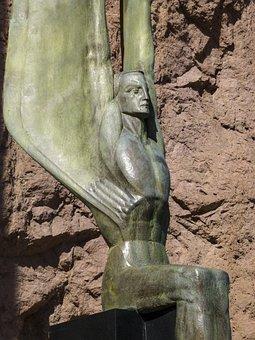 Lake Mead, Statue, Memorial, Reservoir, Hoover Dam