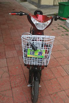Moped, Electric, Bike, Bicycle, Transportation, Motor