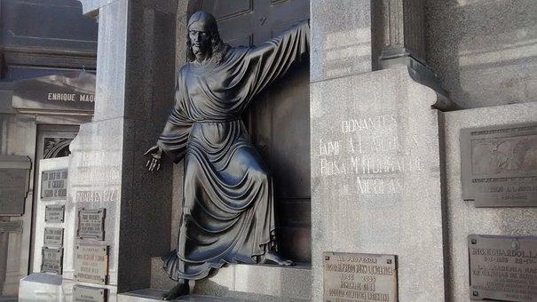 Tomb Art, Sculpture, Jesus, Cemetery, Recoleta Cemetery
