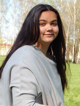 Sarah, Friend, Spring, Park, Stromovka, Smile