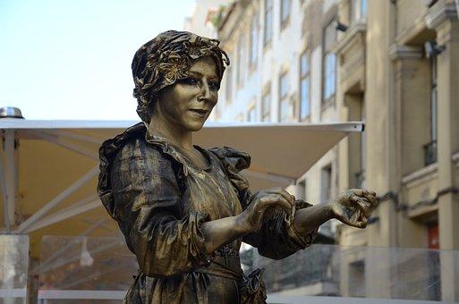 Human Statue, Statue, Street Artists, Lisbon