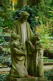 Sculpture, Stone Figure, Christ, Mercy, Consolation