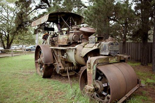 Steam Roller, Old, Machine, Heavy, Vintage, Traction