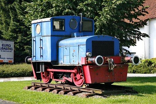 Locomotive, Train, Blue, Rail, Old, Museum Context