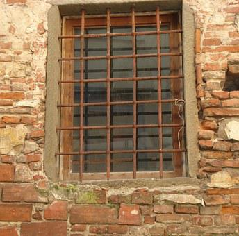 Bars, Medieval, Stone, Gail, Gates, Window, Rusty