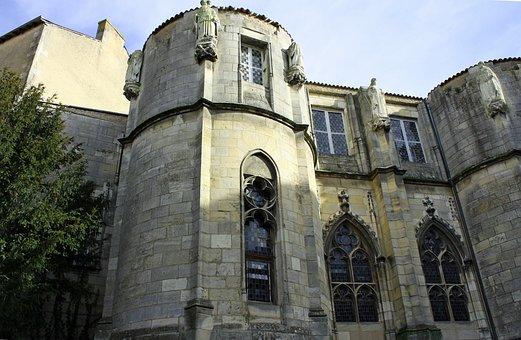 Church, Poitiers, Windows, Stone Church, Medieval