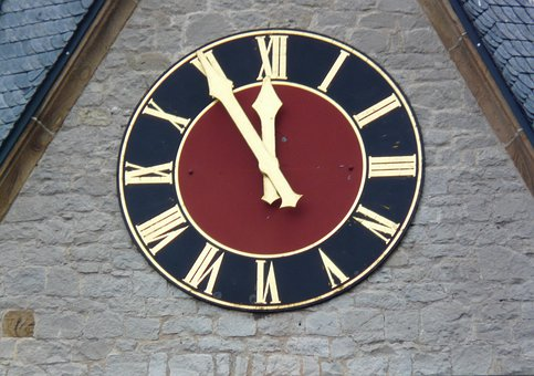 5 Vor 12, Time Of, Countdown, Clock, Church Clock
