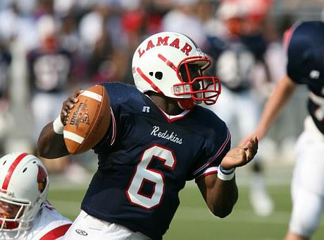 American Football, Quarterback, Helmet, Team