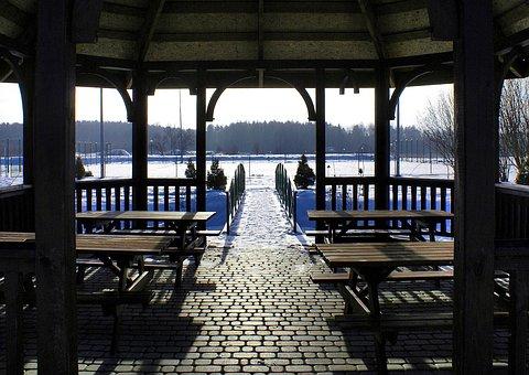 Bridge, Winter Bower, Holiday, Relaxation