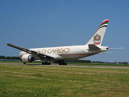 Etihad Airways, Boeing 777, Cargo, Plane, Airplane, Jet