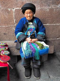 Fenghuang, Miao Granny, 90 Years, Ao, China