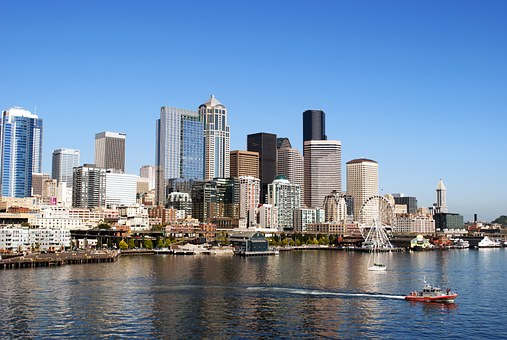 Seattle, City, Town, Usa, Waterfront, Seaside