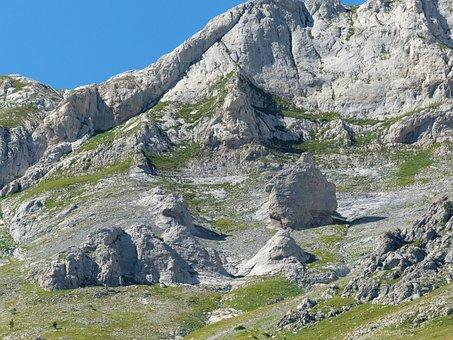 Stone Block, Rock, Climbing Area, Rock Wall, Mountains