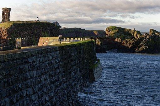 Harbor Wall, Coastline, Sea, Harbor, Wall, Coast