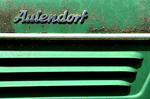 Tractor, Hood, Detail, Weathered, Oldtimer, Agriculture