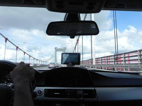 Diving Car, Spain, Summer, Car, Bridge, Road, Way