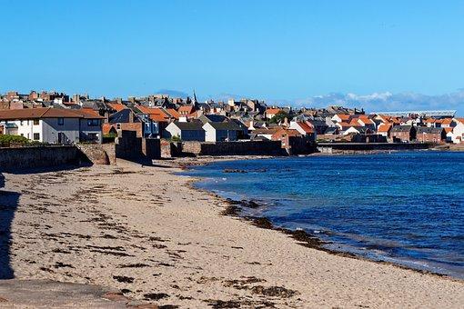 Dunbar, Beach, Town, Coastline, Sand, Shoreline, Sea