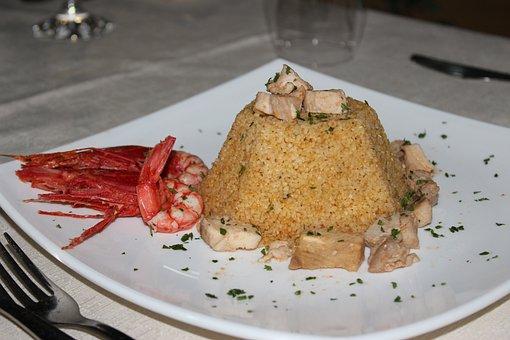 Cous Cous, Dish, Fish, Prawn, Food, Arabic Cuisine