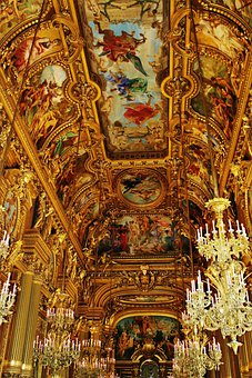 Opera, Garnier, Theatre, Paris, France, Ceiling